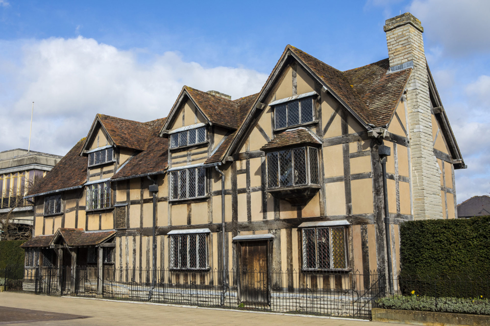 William Shakespeares Geburtshaus in Stratford-upon-Avon. ©England's Waterways